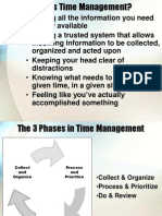Time Management (Jeremy) to Do List