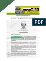 SUNAT. Transparencia Administrativa