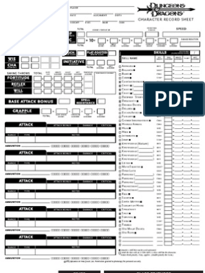 image regarding 3.5e Character Sheet Printable titled Temperament Sheet - Druid v3.5 Amusement Routines Dungeons