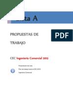 Presentación de Lista A CEC INGECO 2012