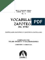 Vocabulario Zapoteco