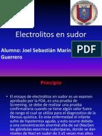 Electrolitos en Sudor