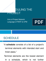Scheduling the Project