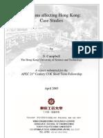 Typhoons Affecting Hong Kong - Case Studies