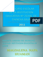 MUNICIPIO ESCOLAR DE LA INSTITUCION EDUCATIVA Nº 22246