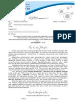 Surat Permohonan Qurban
