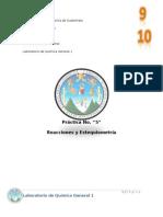 REPORTE No 5 Reacciones y Estequiometria