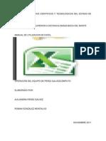 Manul de Utilizacion de Excel
