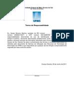 Termo de Responsabilidade Do Uso Da NET_UFMS
