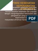 Definisi Kesehatan Keperawatan Komunitas