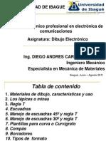 1 Materiales de Dibujo, Caracteristicas y Uso