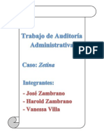 Auditoría Administrativa (caso práctico ZETINA)