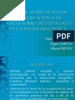 RECOPILACIÓN DE DATOS CONVERSACIONALES