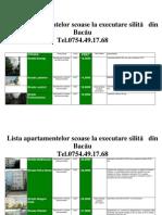 Lista Apartamentelor scoase la executare silită din Bacau la data  06 noiembrie  2011 (download pdf)