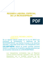 Regimen Laboral Especial Mypes