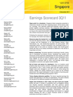 Kimeng - Singapore - Earnings Scorecard 3Q11