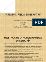 Actividad Fisica en Geriatria