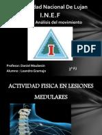 Actividad Fisica en Lesiones Medulares
