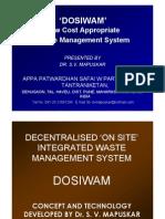 DOSIWAM system developed by Dr.S.V.Mapuskar.