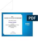 CERTIFICATE OF IEEE MEMBERSHIP