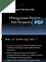 Integrasi TMK Dlm P&P - Authoring Tools