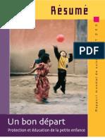 Protection et éducation de la petite enfance