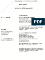 COPIE Privée - RueduCommerce vs Copie France TGI Nanterre 2 décembre 2011