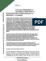 Contestación al PSOE sobre el Teatro Real