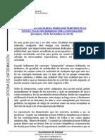 PALABRAS DE LA ALCALDESA EN LAS XIII JORNADAS POR LA INTEGRACIÓN