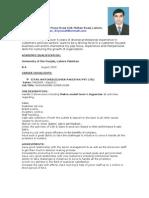 Salman Yousaf's CV