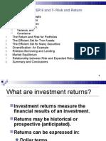 Risk-Return Corporate Finance