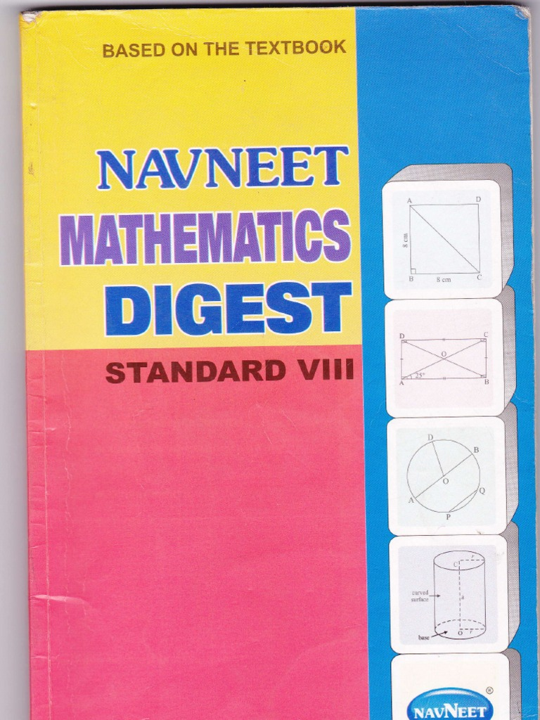 Navneet maths digest std 8th circle rectangle fandeluxe Choice Image