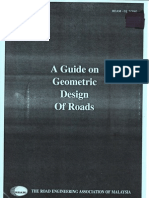 REAM Guidelines On Geometric Design of Roads