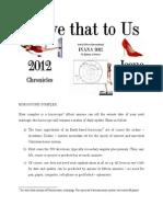 Zodiacal Update 2012 - Academic Zodiac