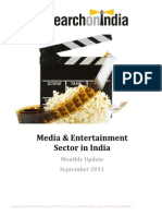 Media and Entertainment Sector in India Monthly Update