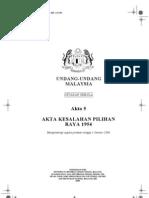 Akta 5 - Akta Kesalahan Pilihanraya 1954