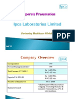Ipca Corporate Presentation