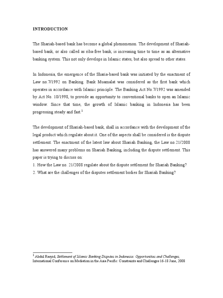 Dispute settlement shariah bank sharia mediation malvernweather Gallery