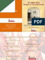 Diptico III Jornadas Sobre El Franquismo