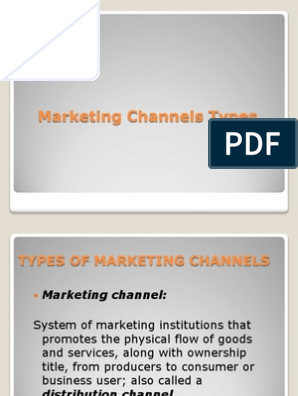 Types of Marketing Channels | Distribution (Business