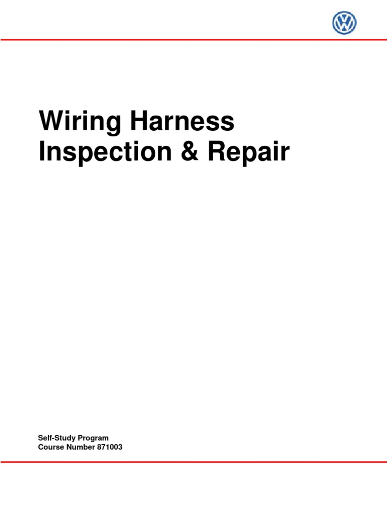 Wiring Harness Repair Course Diagram Blog Connectors Vw Inspection And Electrical Connector Conversion