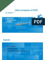 Standardization Progress of SON in 3GPP