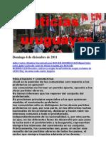 Noticias Uruguayas Domingo 4 de Diciembre de 2011