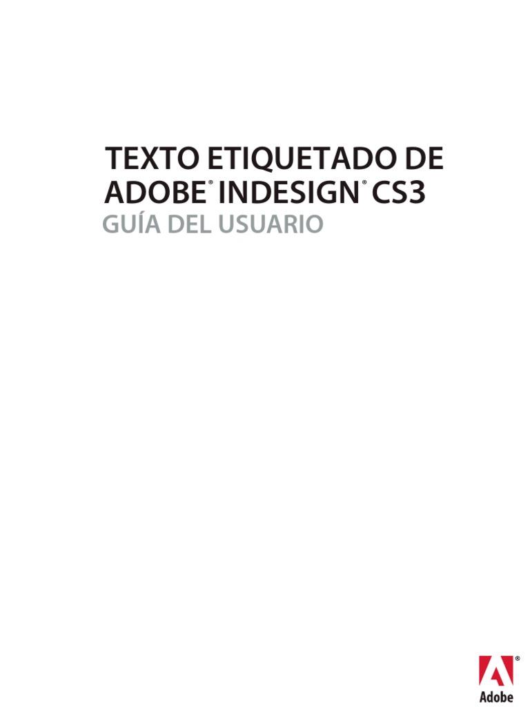 Manual Adobe InDesign CS3 Texto Etiquetado
