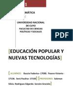 Educación Popular y Nuevas Tecnologías