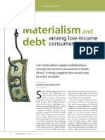 Materialism and Debt Amongst Low Income Consumers in SA