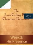 Jesus Calling Bible Christmas Devotional - Week 2