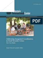 Addressing Integrated Coordination in Food Security Crises