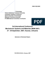 Mechatronic Systems and Materials (MSM 2007)