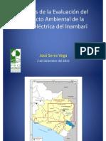 Estudio Impacto Ambiental de Inambari